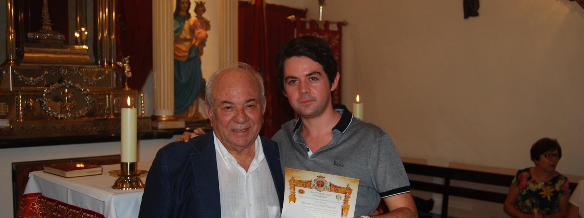 Entrega de diplomas de la peregrinación del 28 mayo 2017