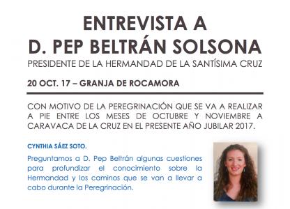 Entrevista a D. Pep Beltrán Solsona.
