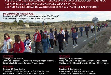 PEREGRINACIÓN A LA CIUDAD SANTA DE VALENCIA POR LOS CAMINOS DEL LIGNUM CRUCIS-SANTO GRIAL.