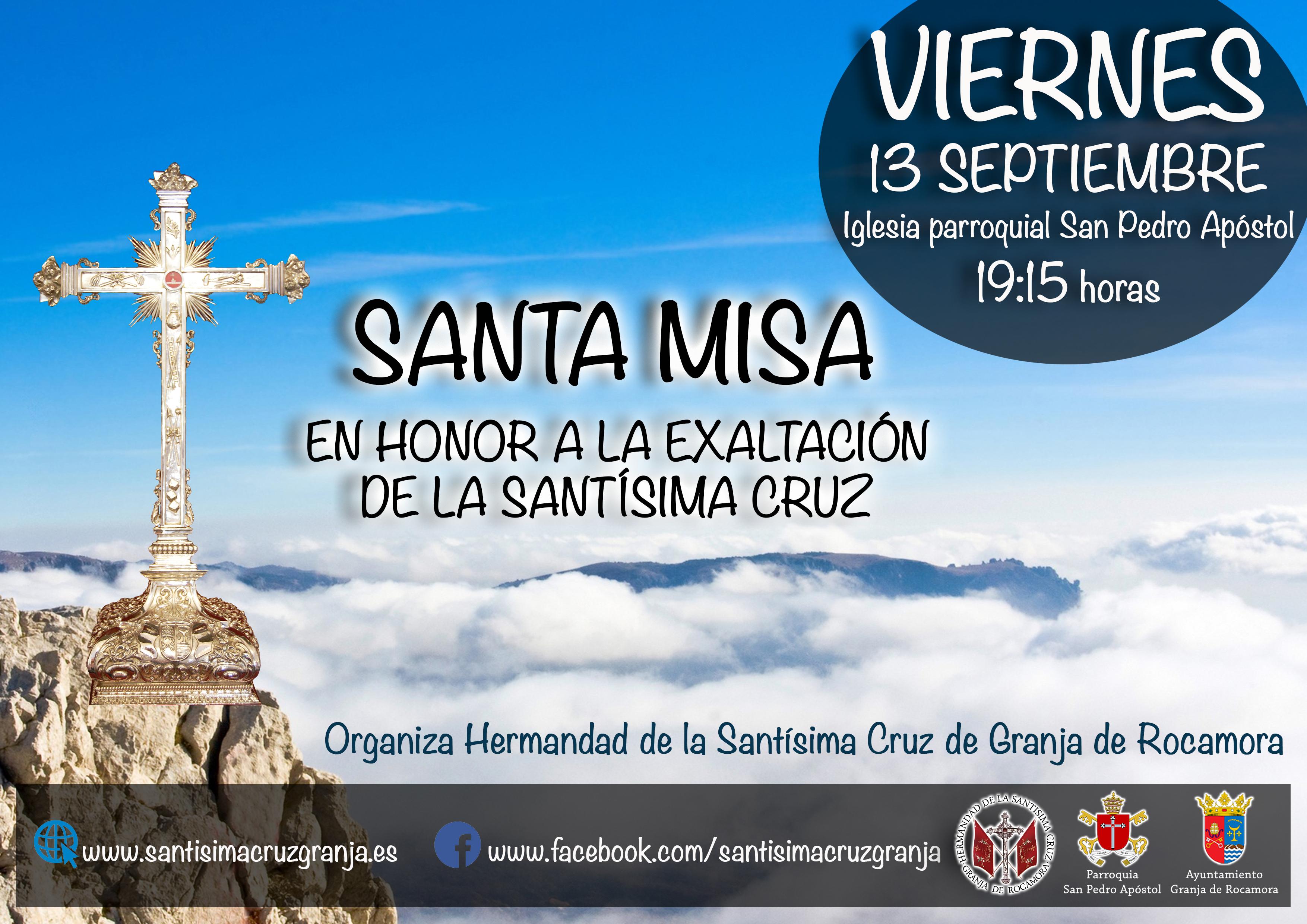 Santa Misa en Honor a la Exaltación de la Santísima Cruz