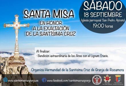 Santa Misa en Honor a la Exaltación de la Santísima Cruz 2021