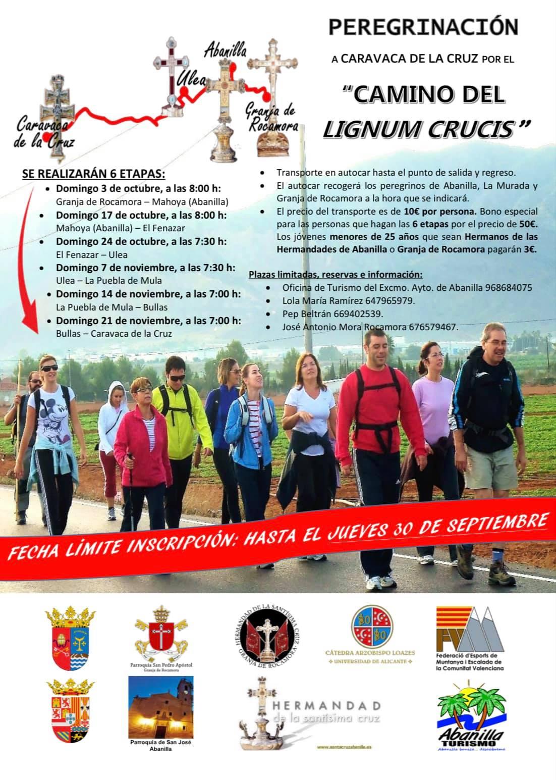 """Peregrinación a Caravaca de la Cruz por el """"Camino del Lignum Crucis"""" 2021"""