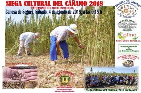 Jornada de la Siega Cultural del Cáñamo 4 de agosto de 2018