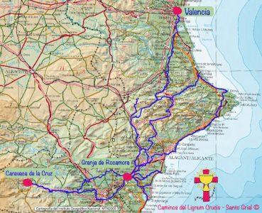 Caminos del Lignum Crucis por Valencia
