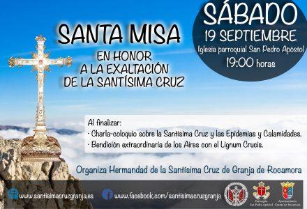 Santa Misa en Honor a la Exaltación de la Santísima Cruz.